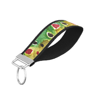 Brown Trout Fishing Wrist Keychain