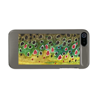 Brown Trout Fly Fisherman Metallic Phone Case For iPhone SE/5/5s