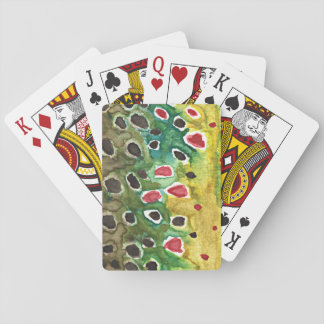Brown Trout Fly Fisherman Poker Cards