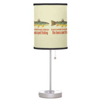 Brown Trout Fly Fishing Desk Lamp