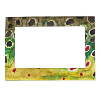 Brown Trout Fly Fishing Magnetic Photo Frame