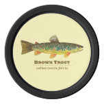 Brown Trout Fly Fishing Poker Chips Set