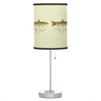 Brown Trout Fly Fishing Table Lamp