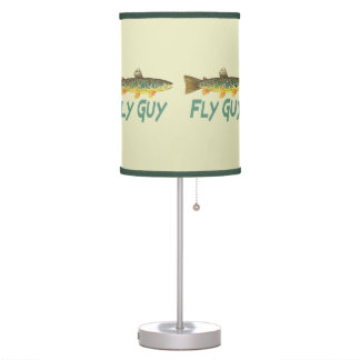 Brown Trout Fly Fishing Table Lamps