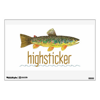 Brown Trout Fly Fishing Wall Decal