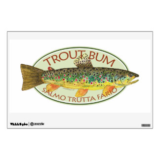 Brown Trout Fly Fishing Room Decals