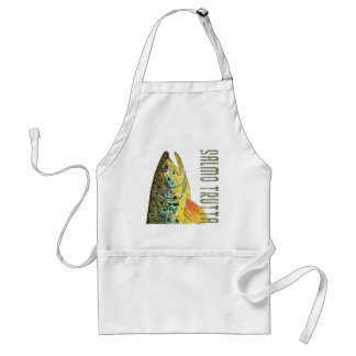 Brown Trout Ichthyology, Fishing, Fly Fishing Adult Apron