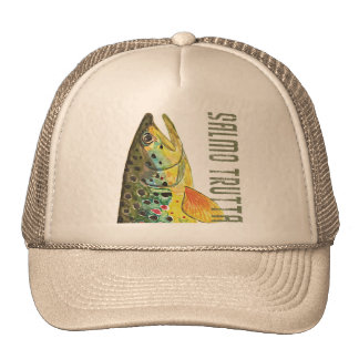 Brown Trout Ichthyology, Fishing, Fly Fishing Trucker Hats