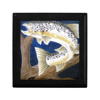 Brown Trout Jewelry Box