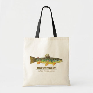 Brown Trout Latin Ichthyology Tote Bag