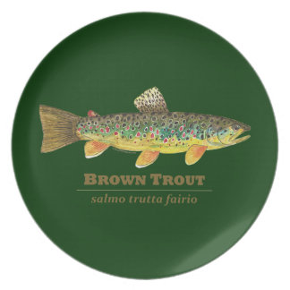 Brown Trout Latin Ichthyology Dinner Plate