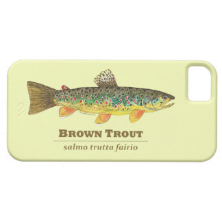 Brown Trout Latin Ichthyology iPhone SE/5/5s Case
