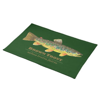 Brown Trout Latin Ichthyology Placemat