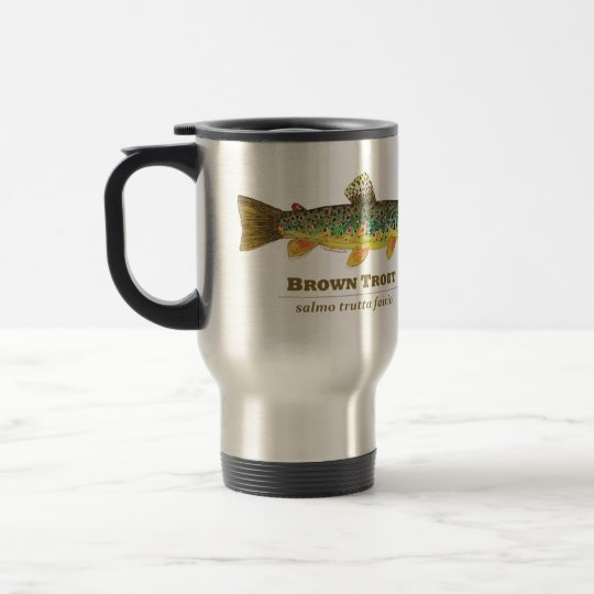 Brown Trout Latin Ichthyology Travel Mug