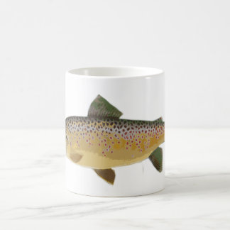 Brown Trout Classic White Coffee Mug