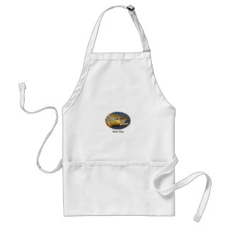 Brown Trout (oval logo) Adult Apron