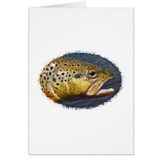 Brown Trout (oval logo) Card