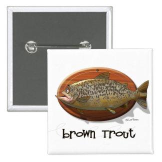Brown Trout Pinback Button