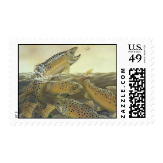 Brown Trout Postage Stamp