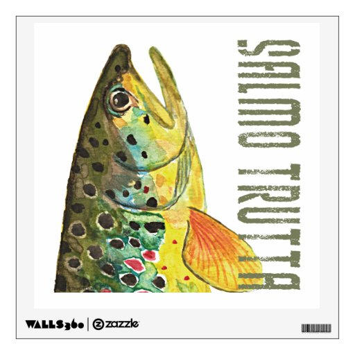 .Brown Trout Room Decal