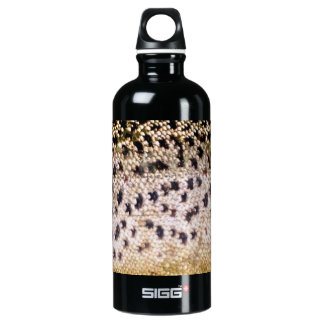 Brown Trout Scales Aluminum Water Bottle