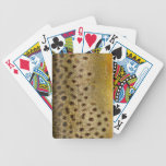 Brown Trout Scales Bicycle Poker Deck