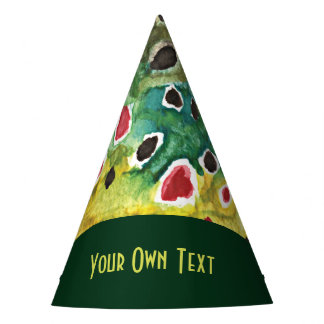Brown Trout Skin Art Party Hat