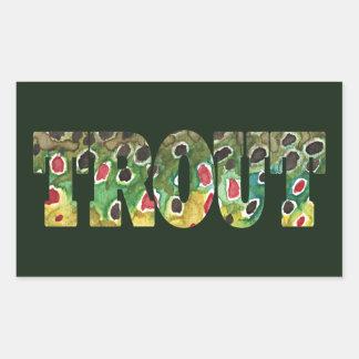 Brown Trout Skin Design Rectangular Sticker