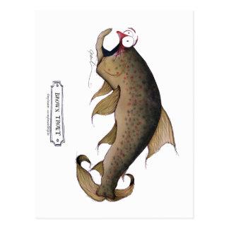 brown trout, tony fernandes postcard