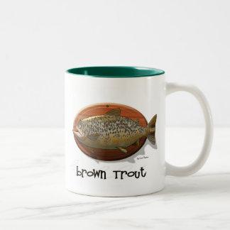 Brown Trout Two-Tone Coffee Mug