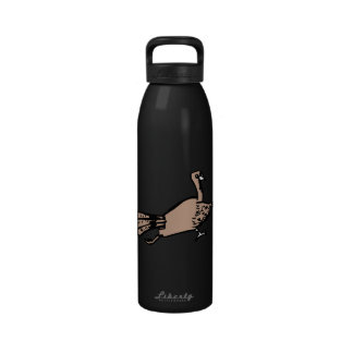 Brown turkey running right reusable water bottle