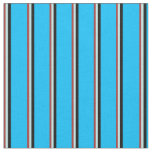 [ Thumbnail: Brown, Turquoise, Black, and Deep Sky Blue Colored Fabric ]