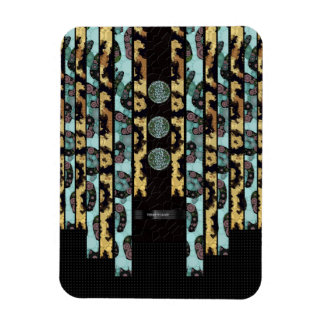 Brown Turquoise Cheetah Magnet