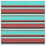 [ Thumbnail: Brown, Turquoise, Light Yellow, and Black Colored Fabric ]
