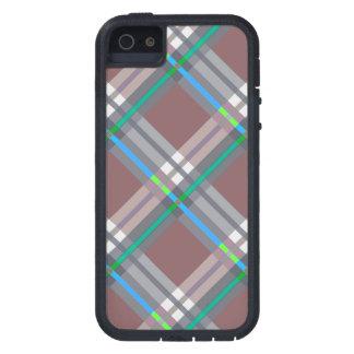 Brown Turquoise  Plaids, Checks, Tartans iPhone 5 Case