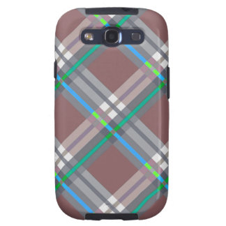 Brown Turquoise  Plaids, Checks, Tartans Galaxy SIII Cover