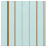 [ Thumbnail: Brown & Turquoise Stripes Fabric ]