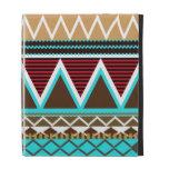 Brown & Turquoise Tribal iPad Folio Cases
