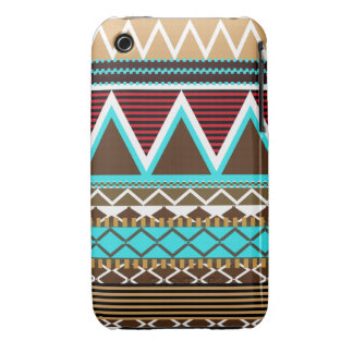 Brown & Turquoise Tribal iPhone 3/3GS Case-Mate Ca iPhone 3 Case