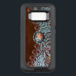 "brown turquoise western country tooled leather OtterBox defender samsung galaxy s8 case<br><div class=""desc"">Rustic western country brown turquoise tooled leather home accessories.  Old western leather fashion accessories. Southwestern cowboy fashion accessories.</div>"