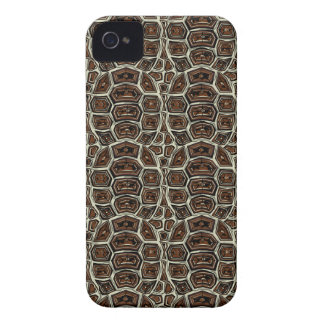 Brown Turtle Shell Pattern Case-Mate iPhone 4 Case