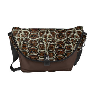 Brown Turtle Shell Pattern Courier Bags
