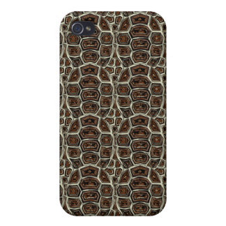 Brown Turtle Shell Pattern iPhone 4 Cover