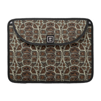 Brown Turtle Shell Pattern MacBook Pro Sleeve