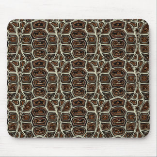 Brown Turtle Shell Pattern Mouse Pad