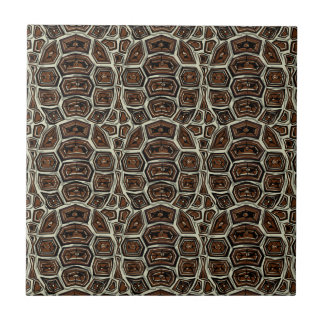 Brown Turtle Shell Pattern Tiles