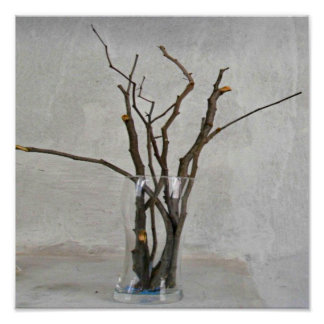 Brown twigs arrangement organic home decor