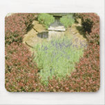Brown Urn Surrounded By Berberis And Lavender flow Mouse Pad