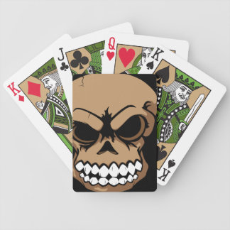 Brown Vector Skull Bicycle Playing Cards