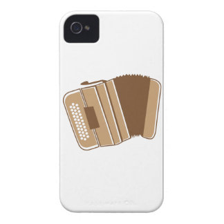 Brown vintage accordion Case-Mate iPhone 4 case